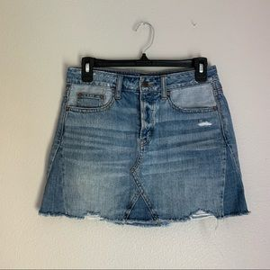 American Eagle Distressed Button Fly Mini Skirt 2